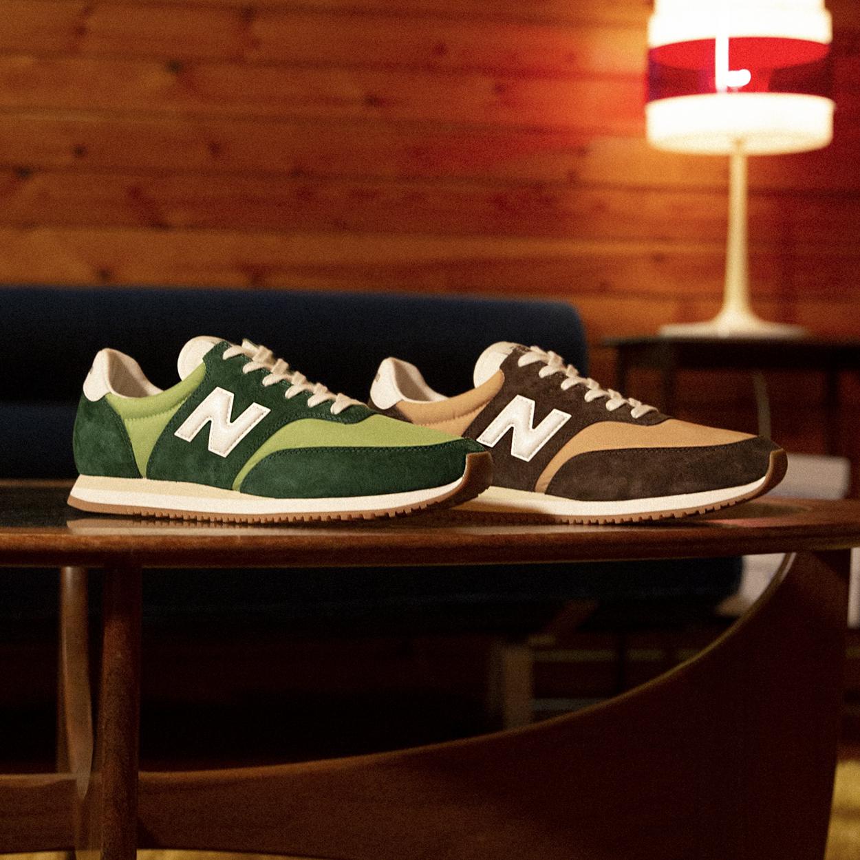 New Balance Comp 100 green and brown