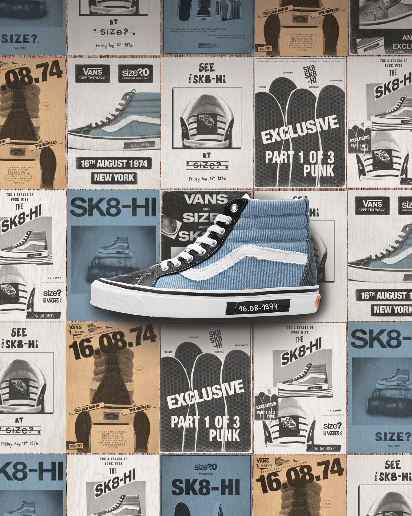 Vans Sk8-Hi Blue and Navy
