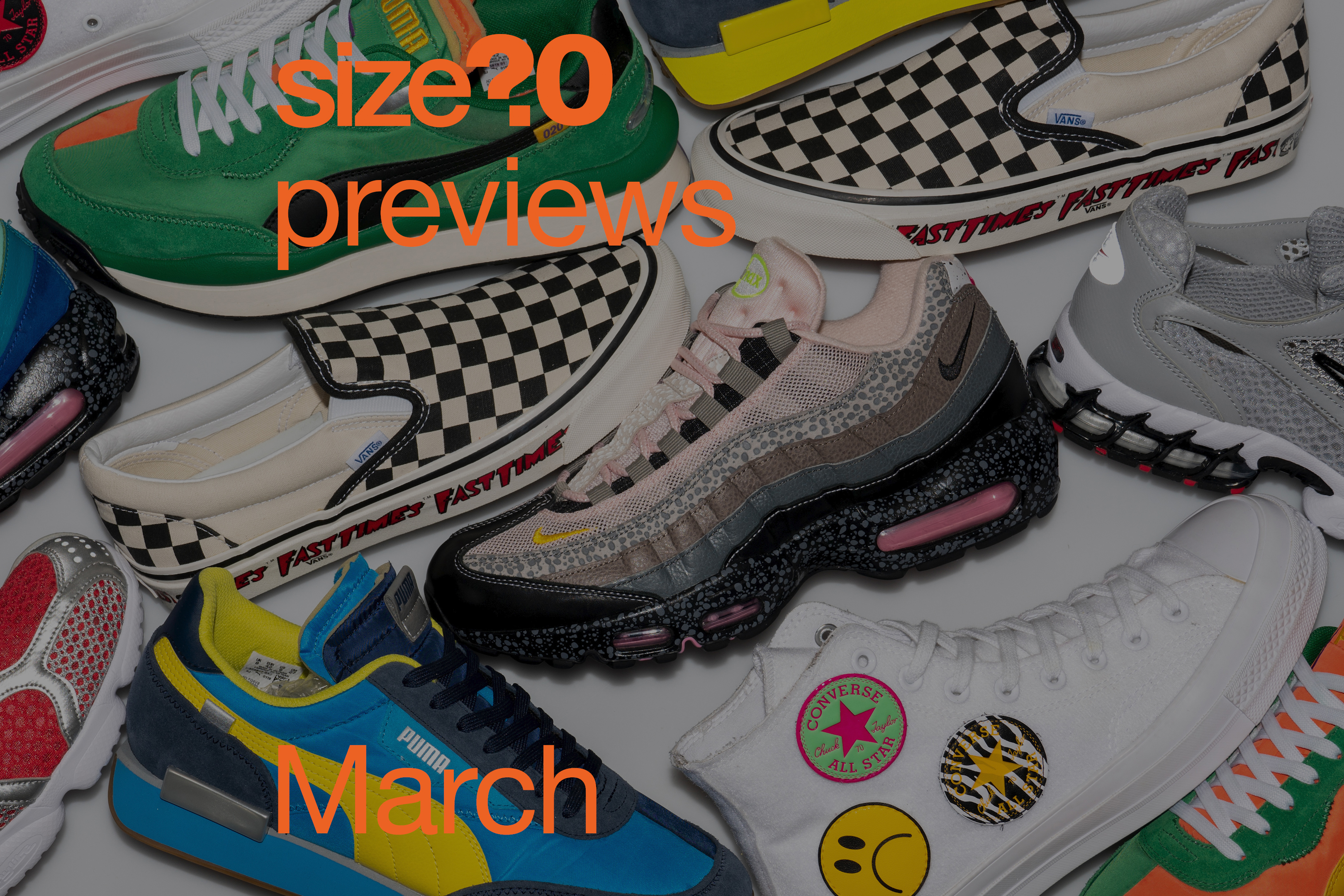 Nike Air Max 95 '20 for 20′, PUMA Fast Rider & Style Rider and more – size? previews March 2020