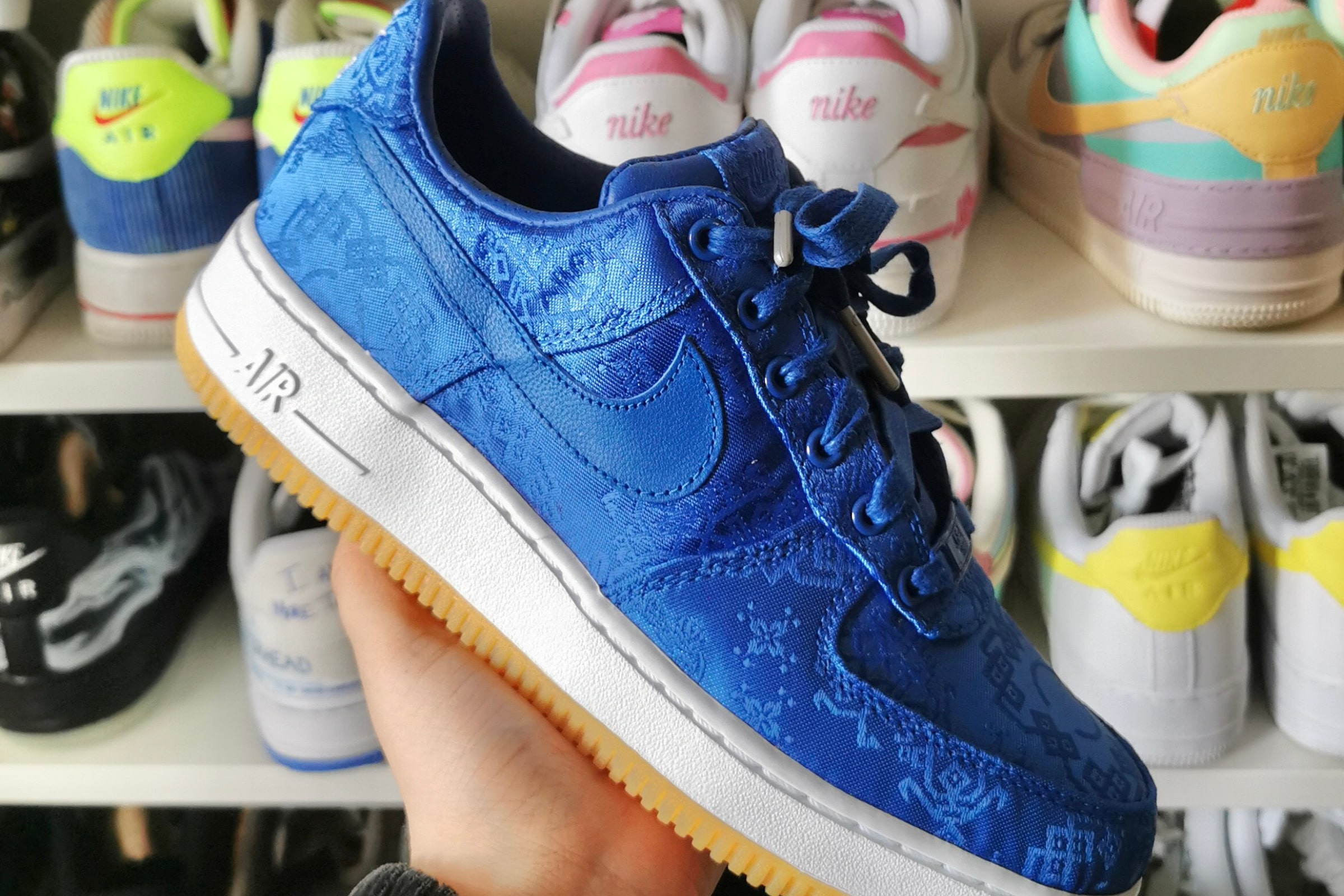 Nike Air Force 1 x CLOT 'Blue Silk' - 2019
