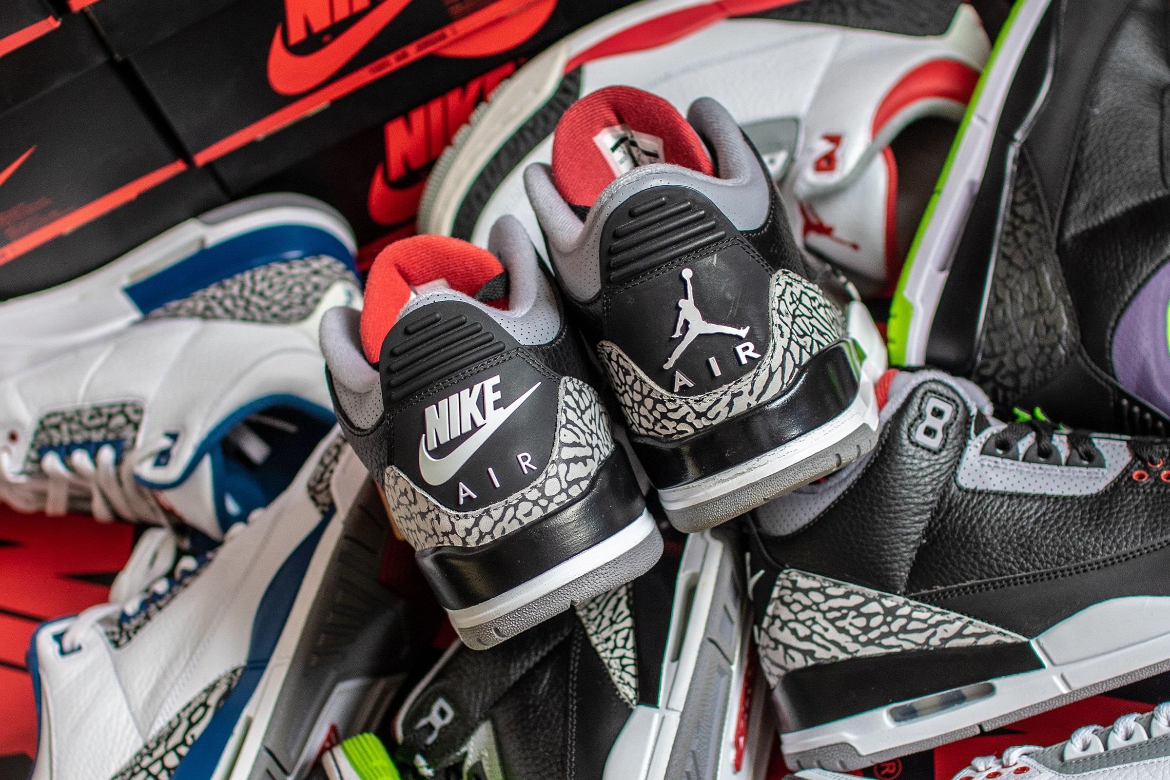 Nike Air Jordan 3 'Black Cement' - 2018 & 2011