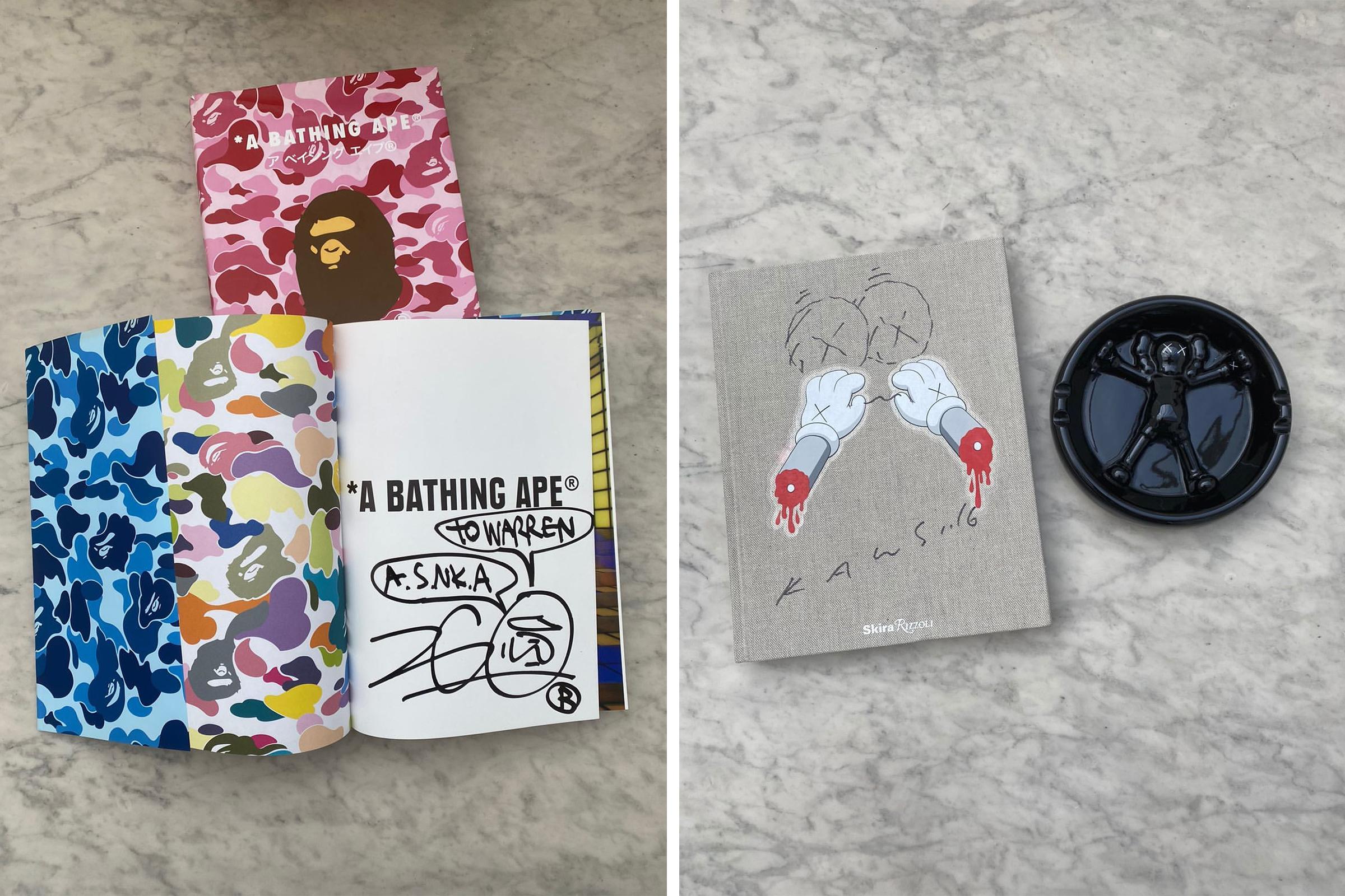 Bape Rizzoli Book  KAWS Rizzoli Book & the 2008 Gallery 1950 ceramic ashtray