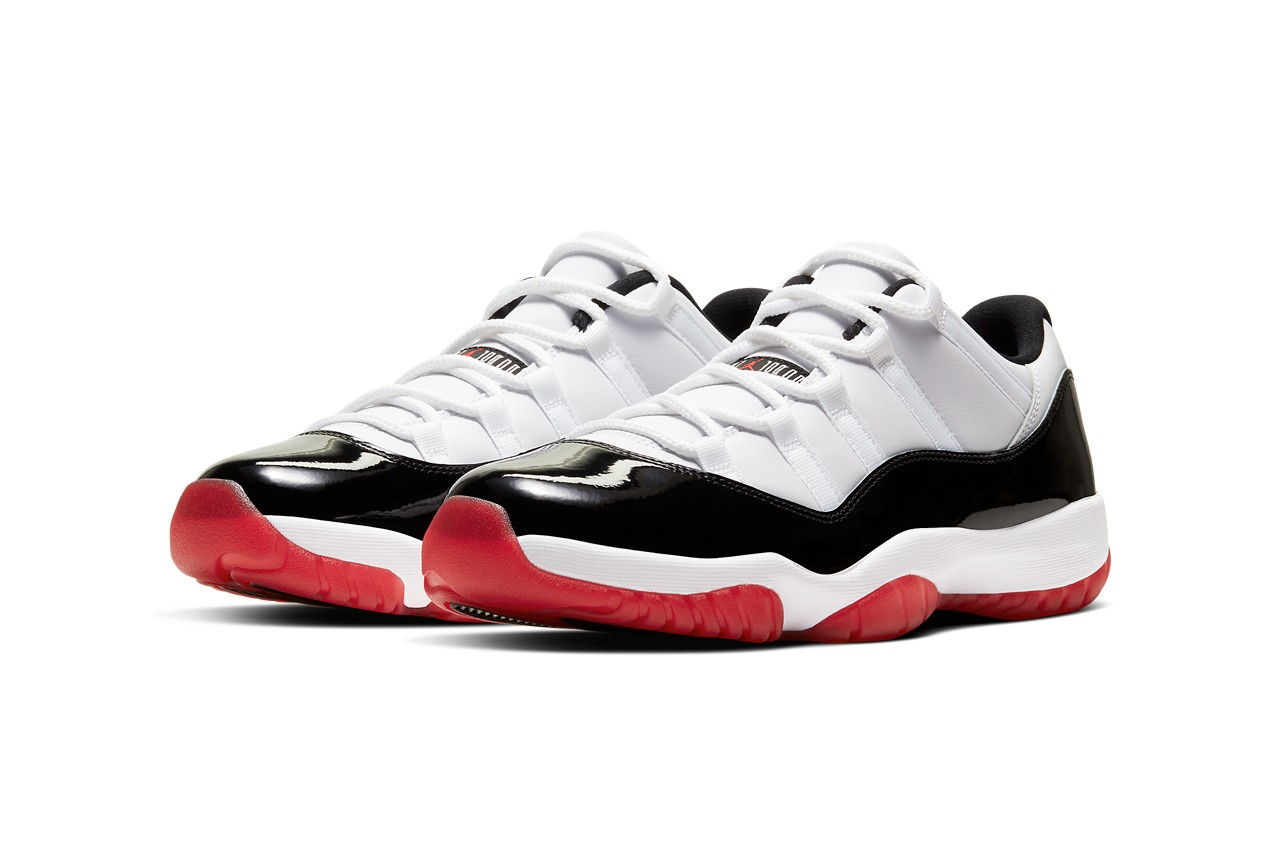Get in the raffle for the Air Jordan 11 Low 'Gym Red'