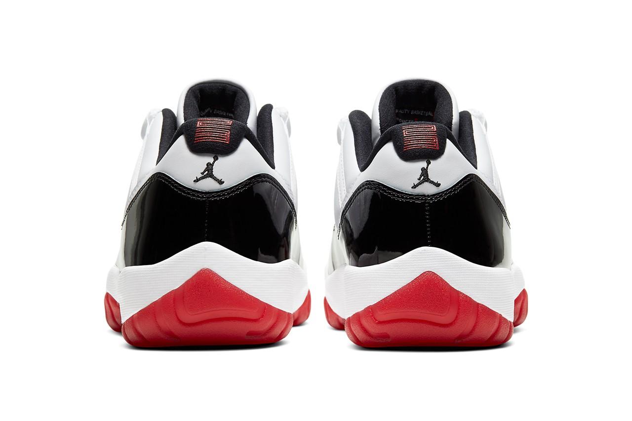 Air Jordan 11 Low 'Gym Red' sidewall heel