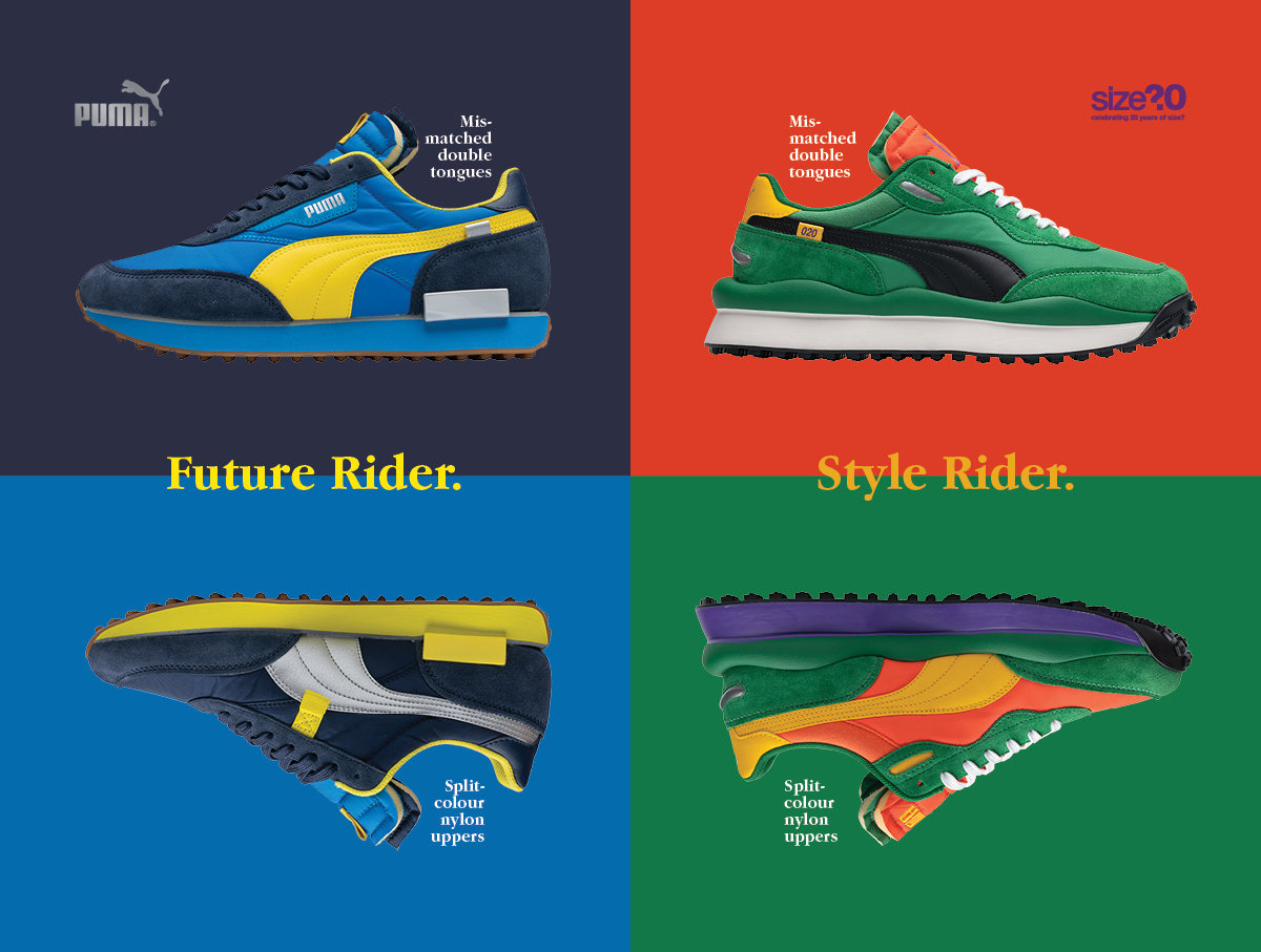 Take a look at our exclusive PUMA Rider collection
