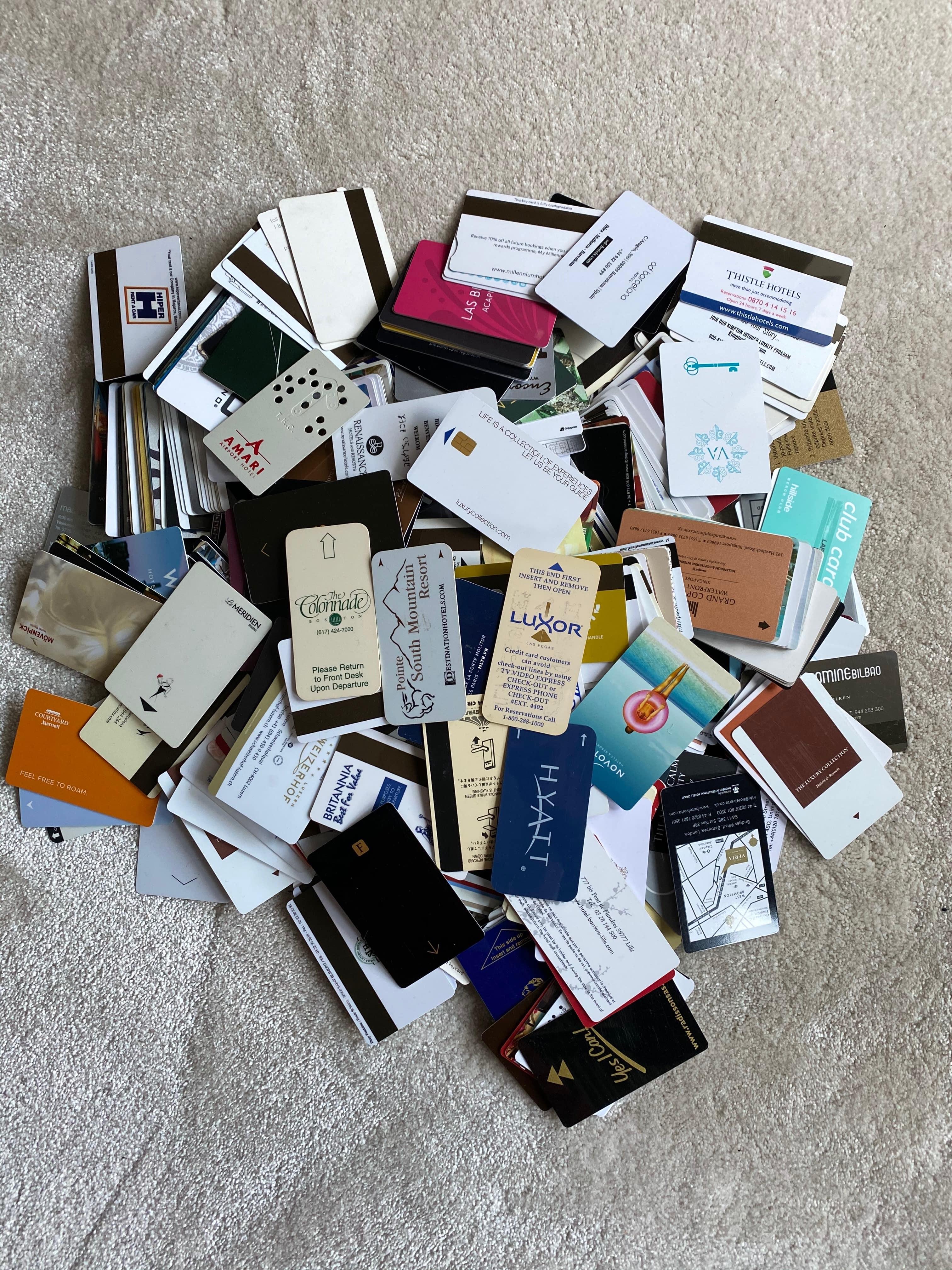 Hotel key cards