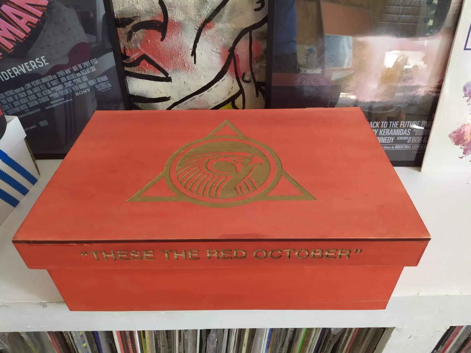 Nike Air Yeezy II 'Red October' custom bag