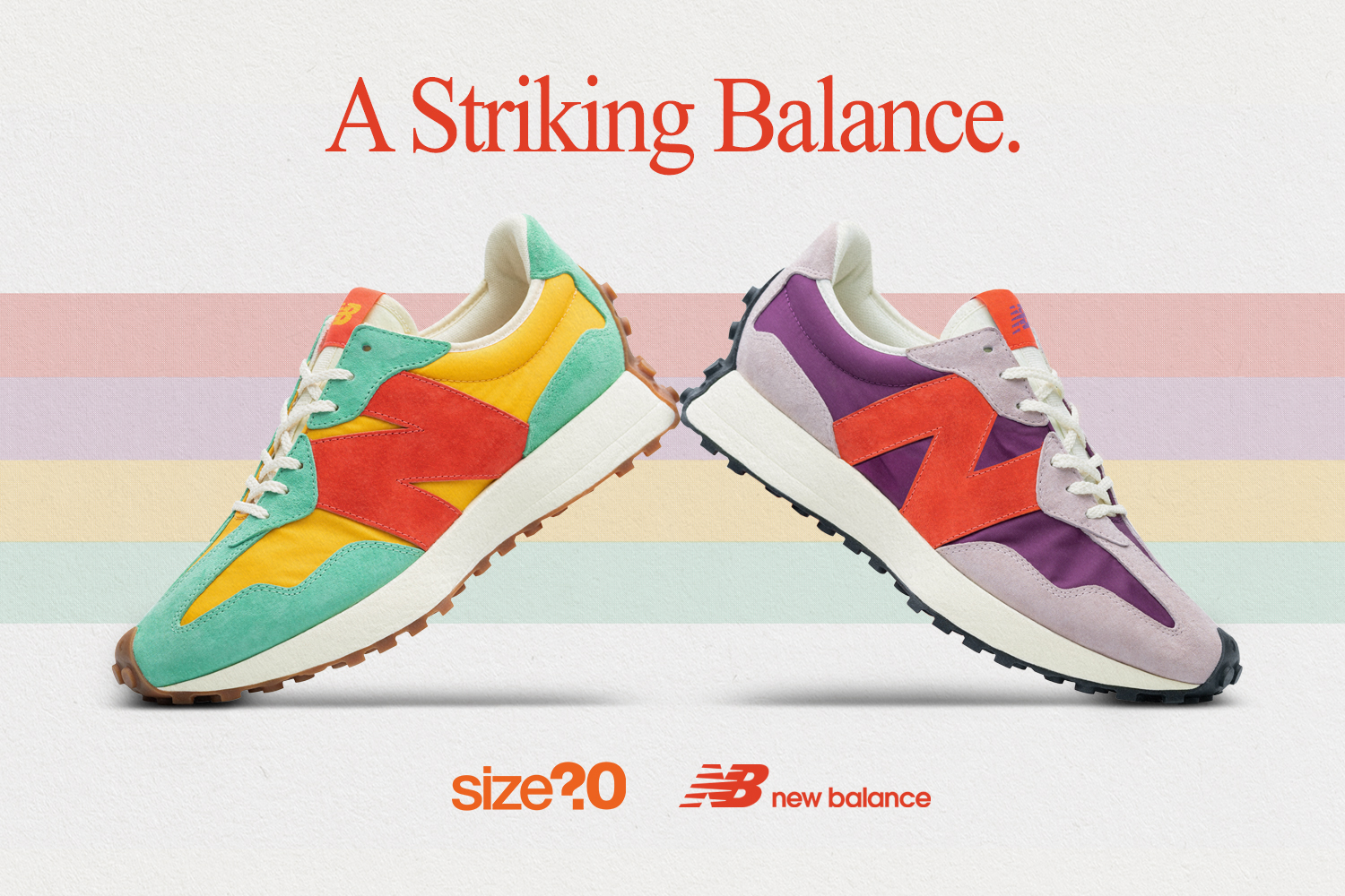 Take a closer look at our exclusive New Balance 327 duo