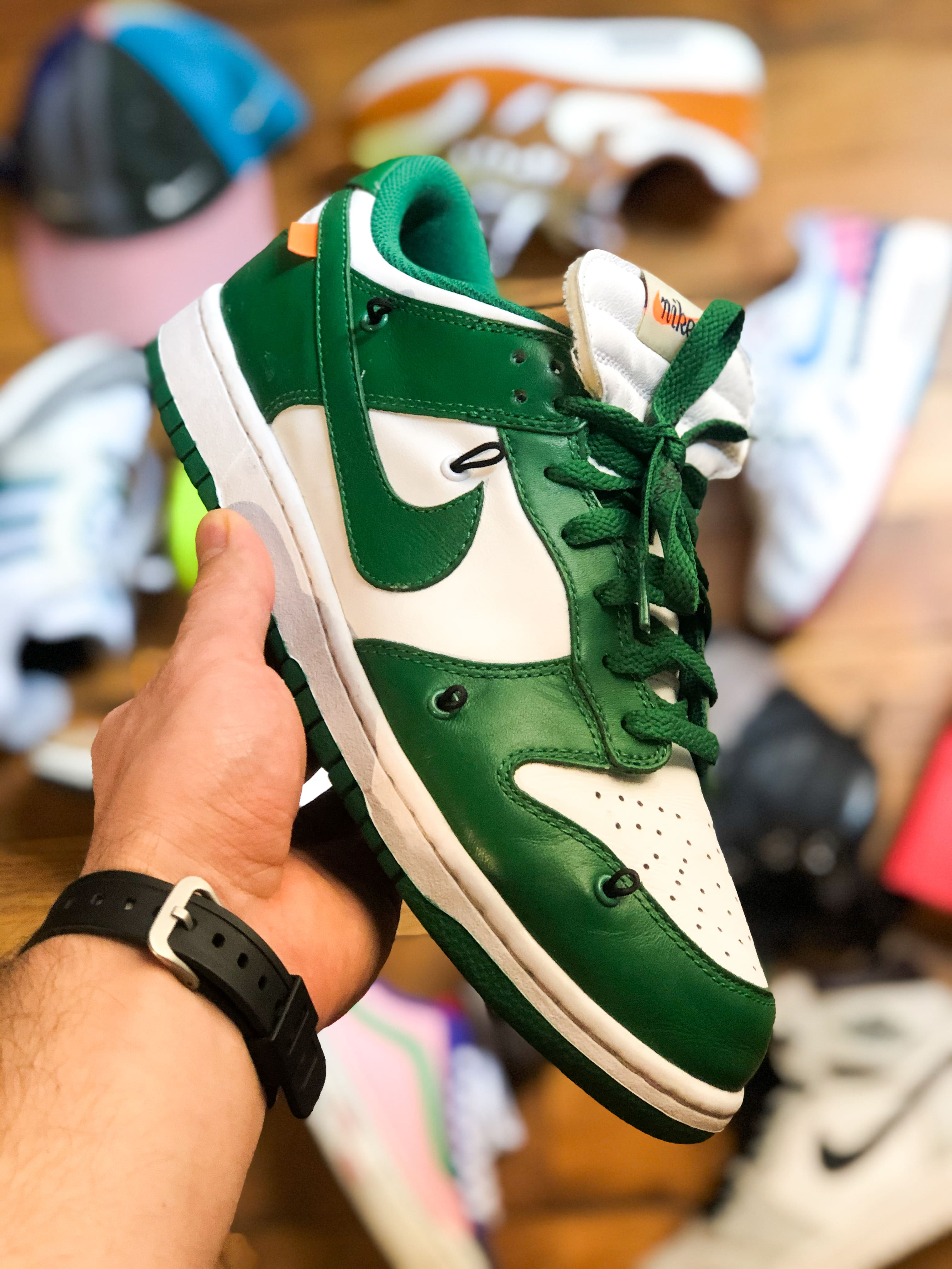 Off-White x Nike Dunk Low 'Pine Green' - 2019