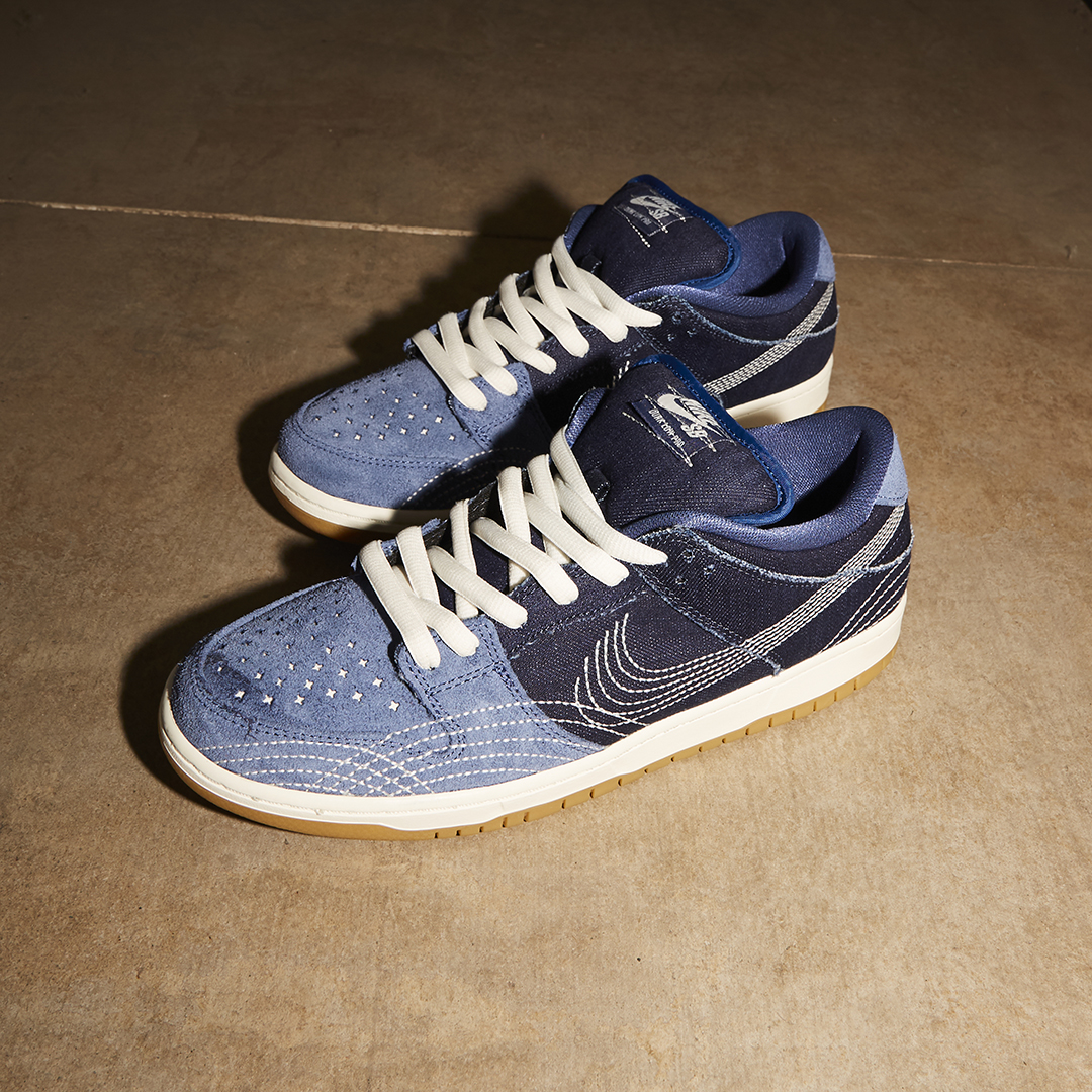 The Nike SB Dunk Low Pro is touching down in denim