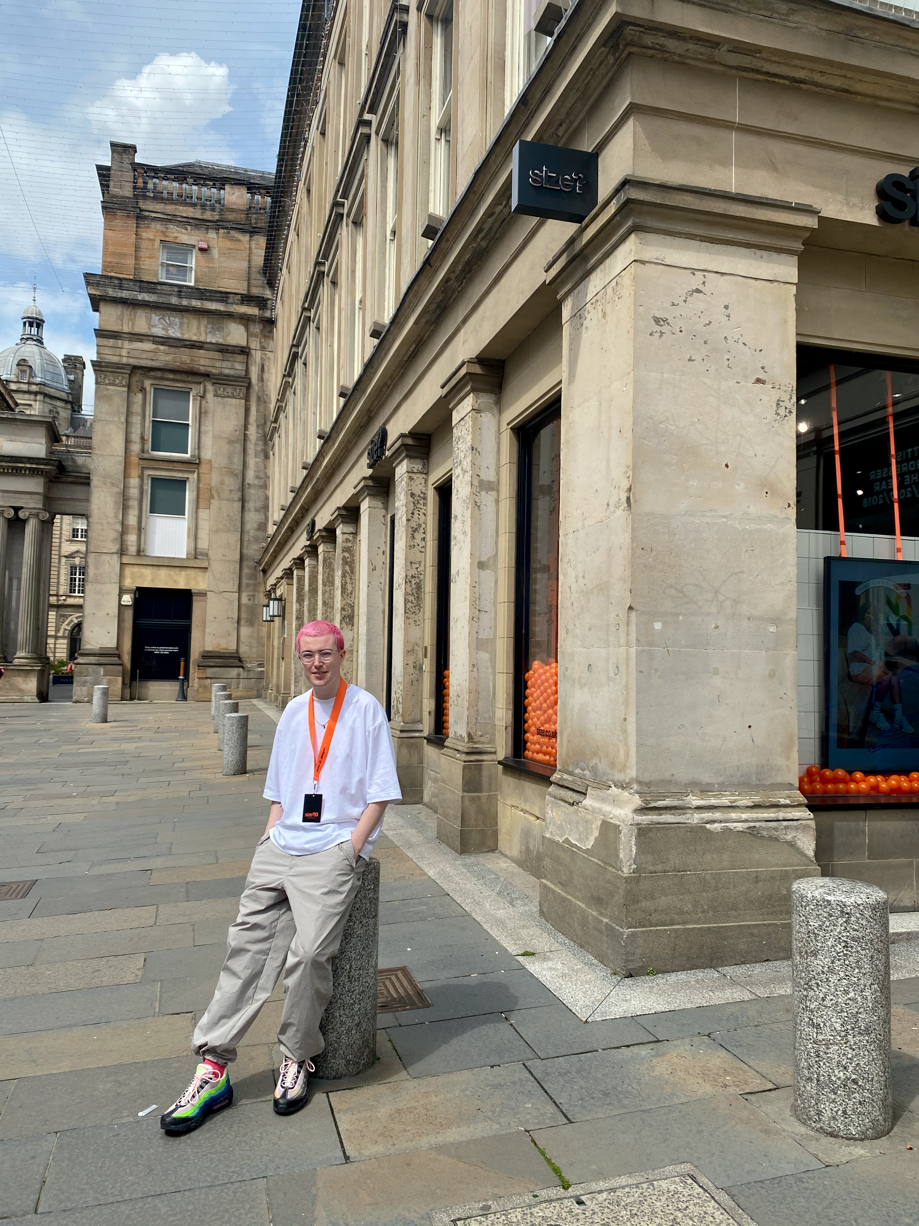 The perks of size? Experts with size? Glasgow's Gavin Johnston