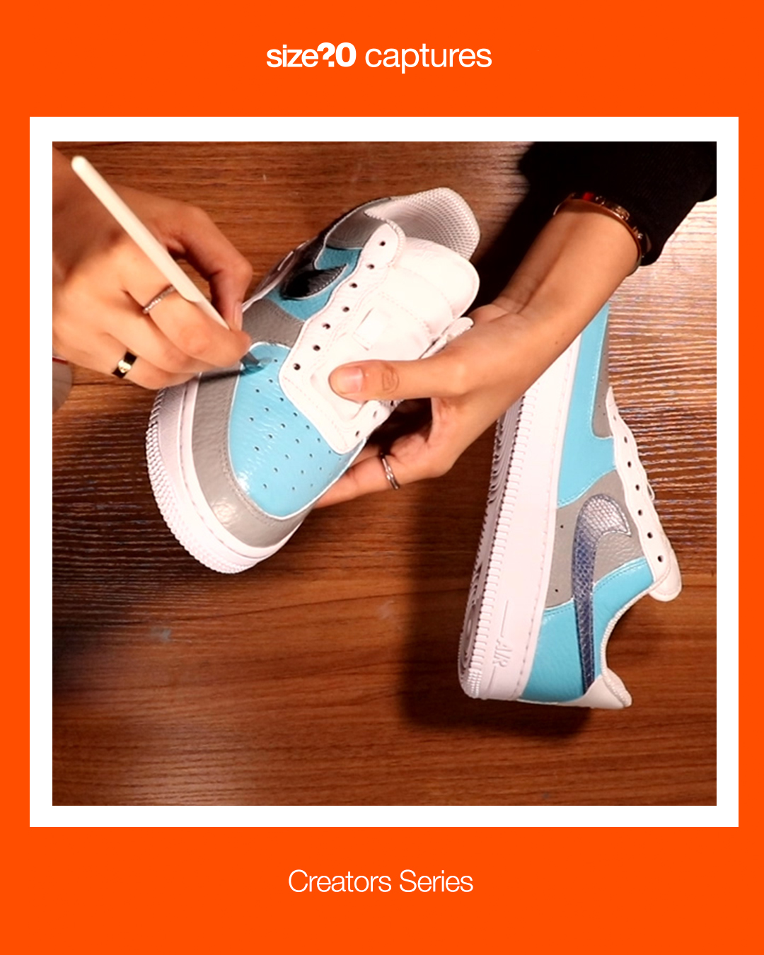 size? captures: Creators Series – How to customise Air Force 1s with @prettyiecustoms