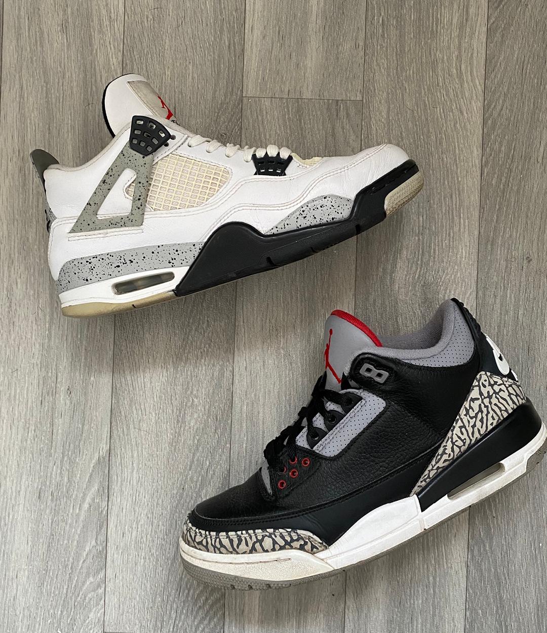 Air Jordan 4 and Air Jordan 3