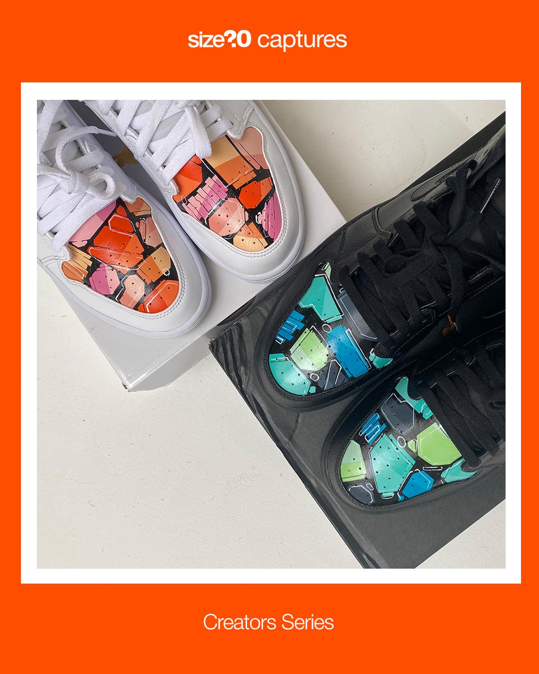 size? captures: Creators Series – Handpainting Air Jordan 1s with FROMVIRGINIABEN
