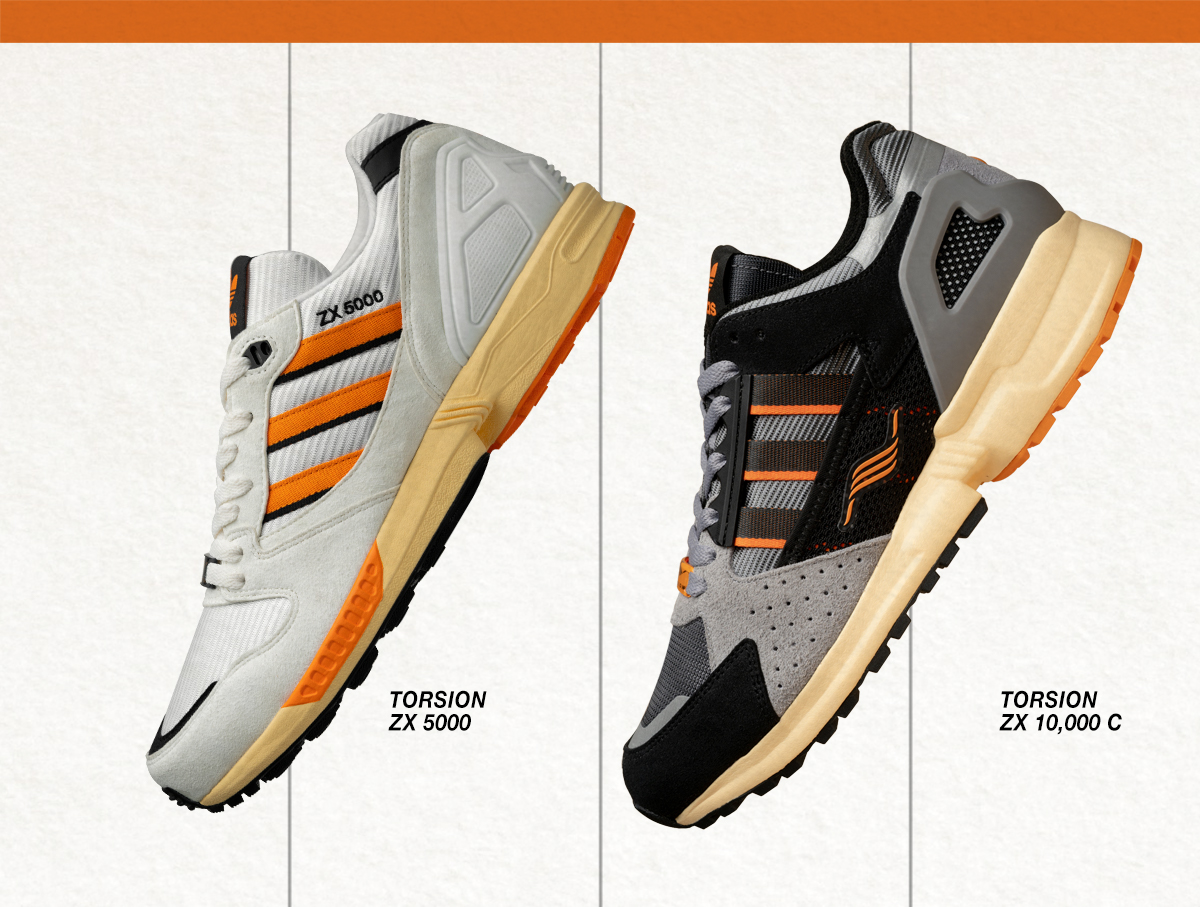 Our 20th anniversary celebrations continue with our exclusive adidas Originals ZX 5000 & ZX 10,000C pack