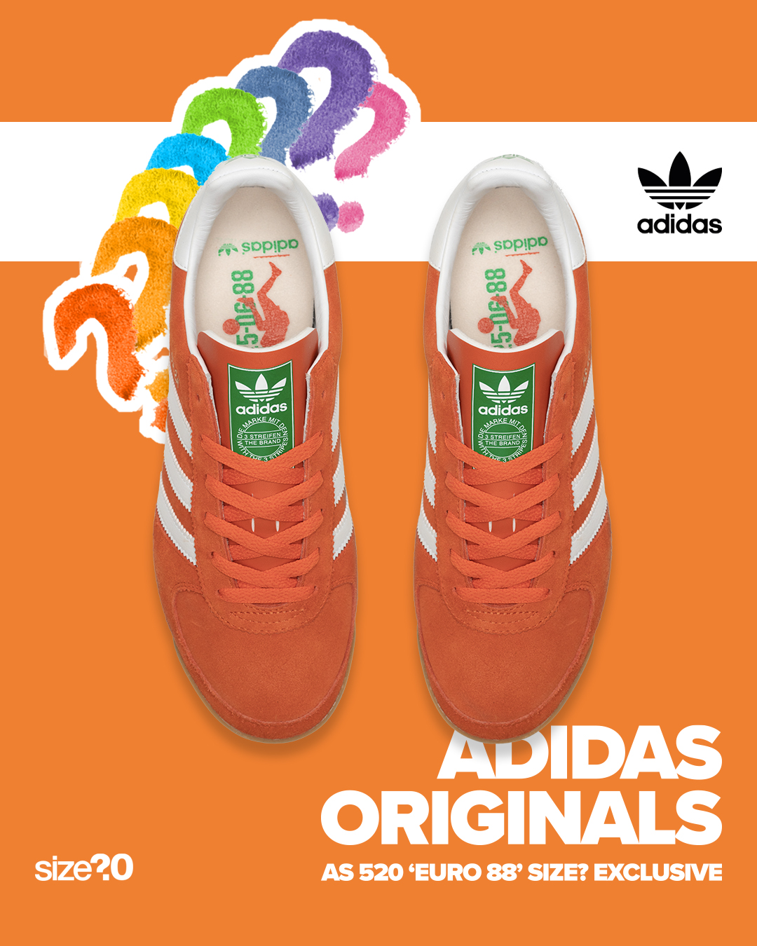 This volley-inspired adidas Originals AS 520 is the last instalment to our exclusive Euros Pack