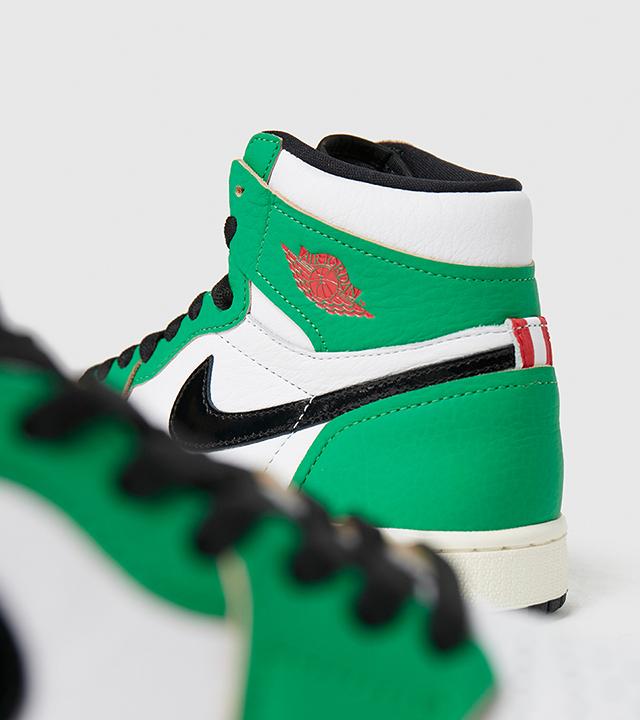 Enter the raffle for the Jordan 1 Retro High 'Lucky Green'