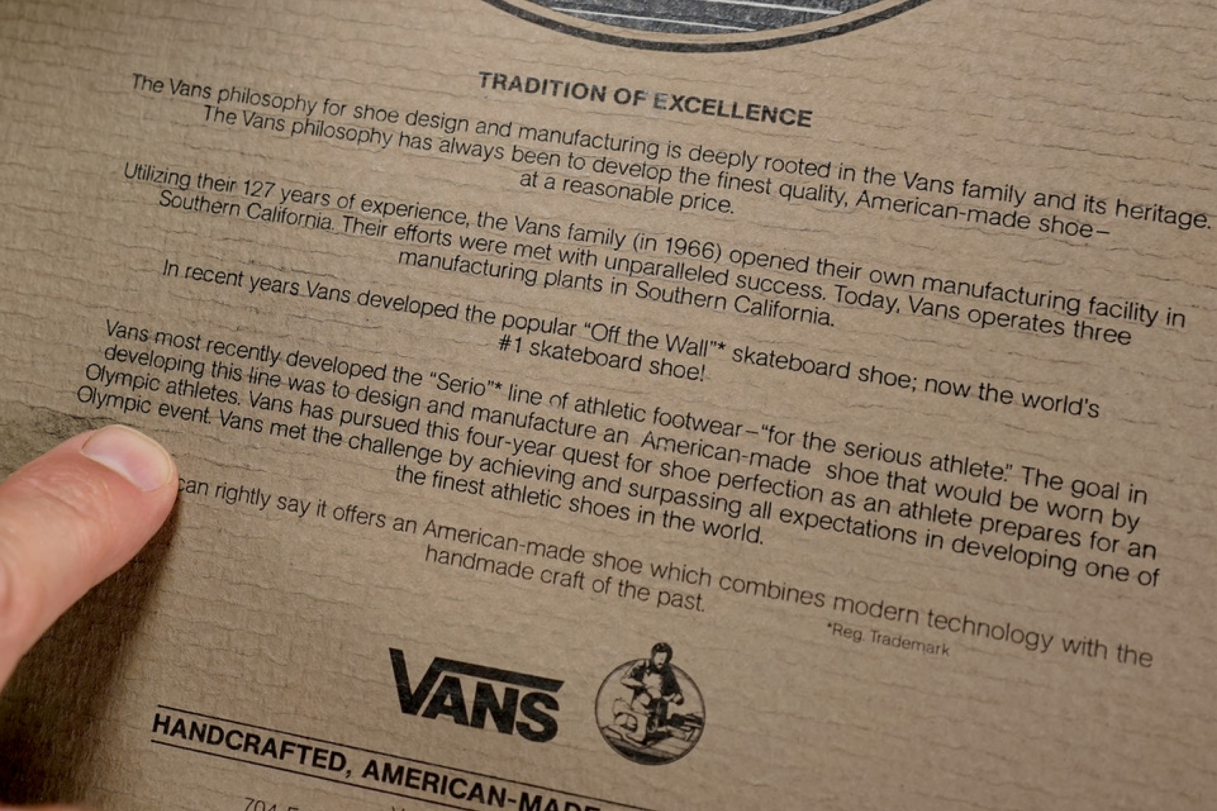 Vans statement