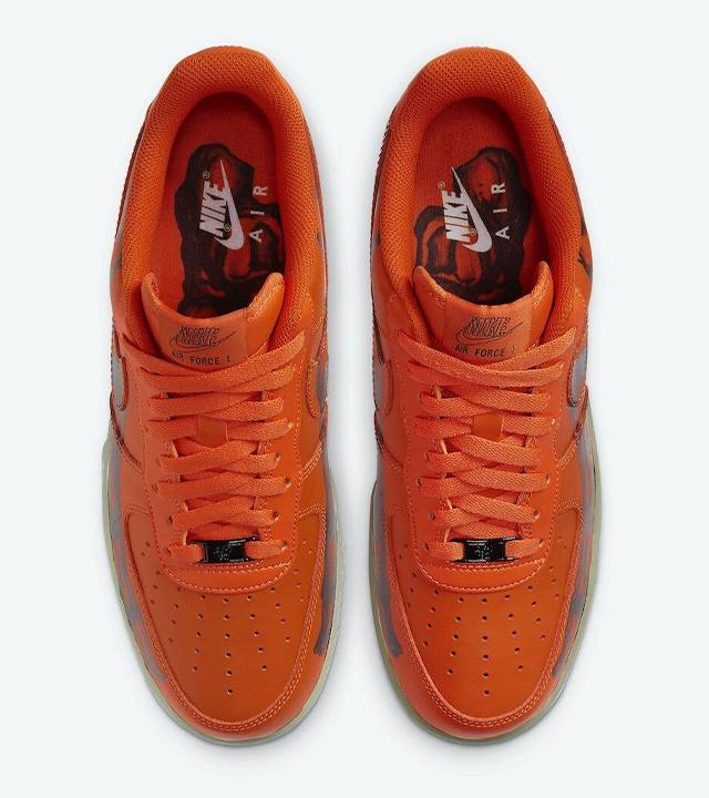 Nike Air Force 1 Skeleton 'Orange'
