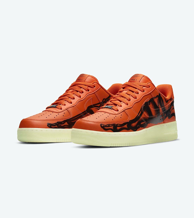 Get into the Halloween spirit with Nike's Air Force 1 Skeleton 'Orange'