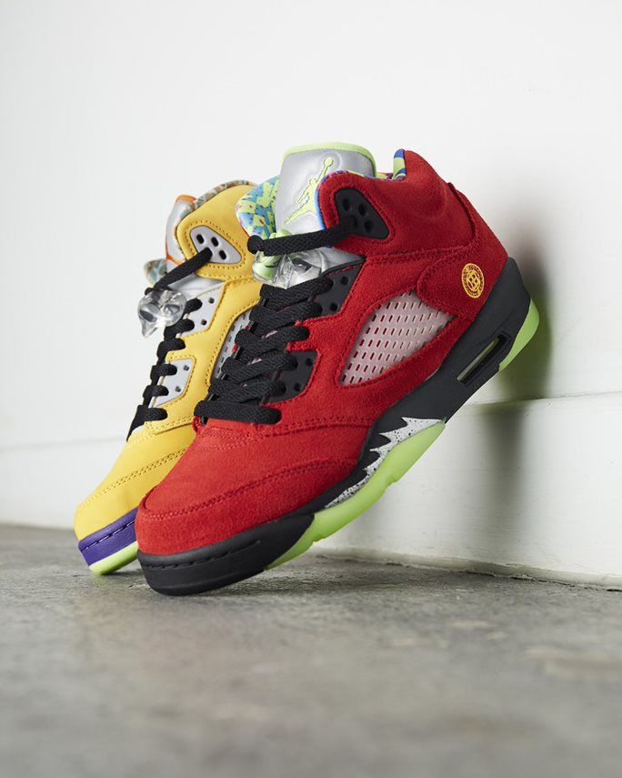 The iconic Nike Air Jordan 5 'What The' takes influence from a range of classic colourways
