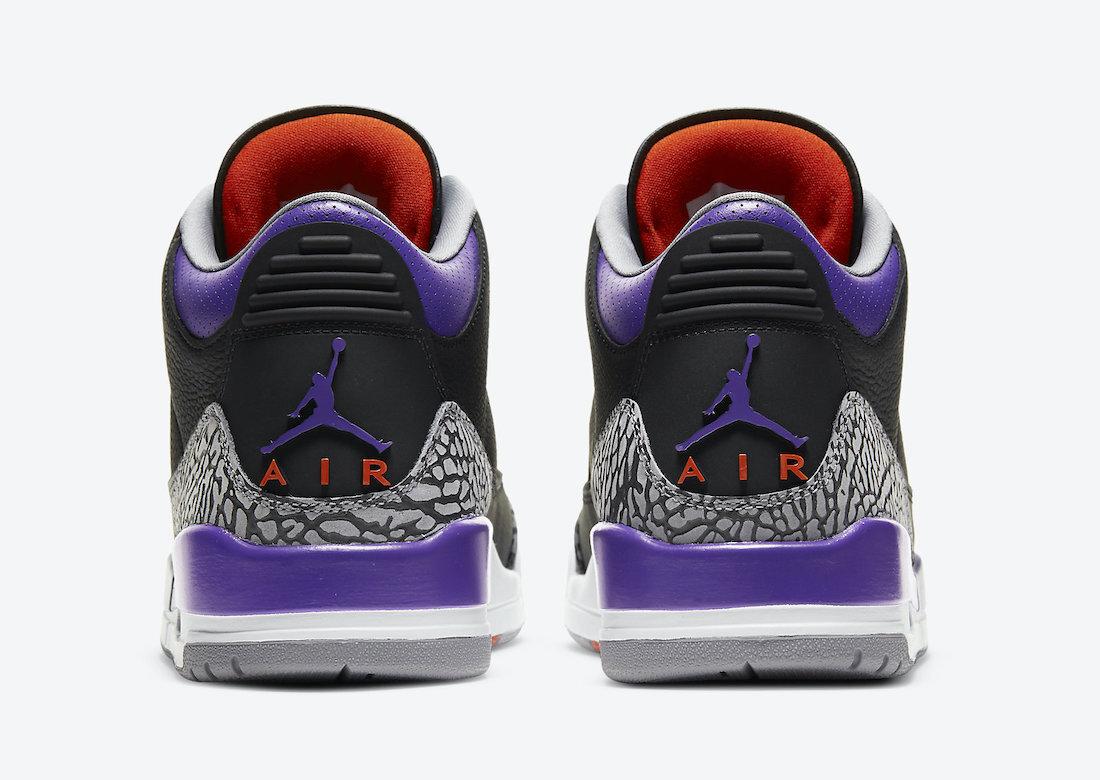 The Air Jordan 3 'Court Purple' nods towards original 1988 designs