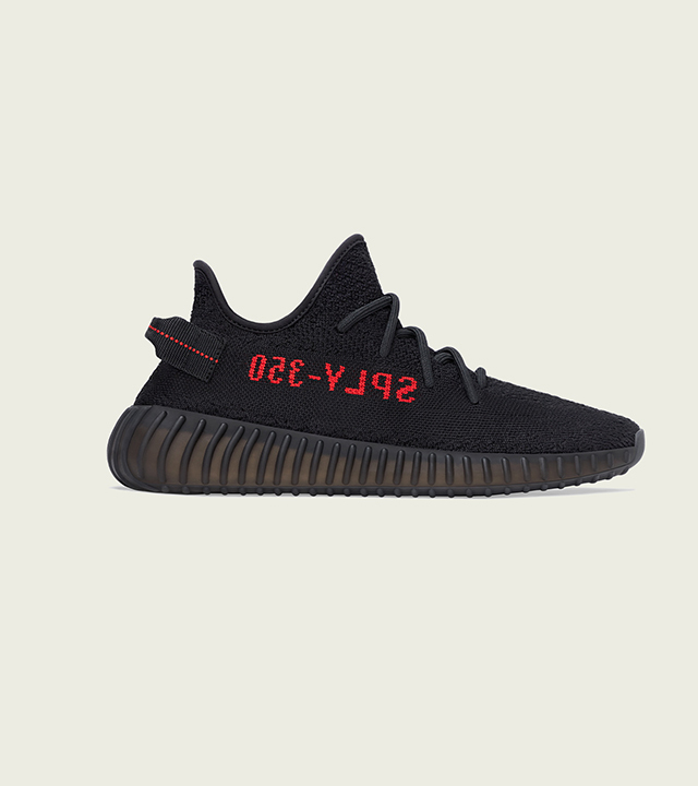 The YEEZY Boost 350 v2 'Core Black/Red' is back once more