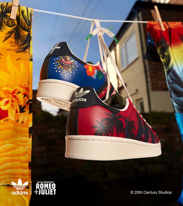 We've joined forces with adidas Originals for an exclusive Romeo & Juilet-inspired Superstar collection
