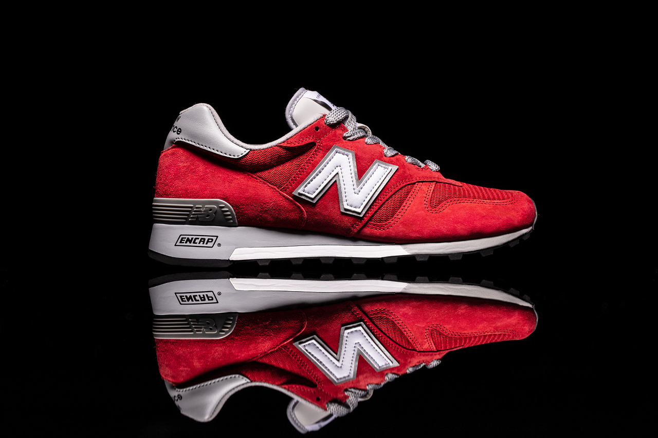 New Balance's classic 1300 model arrives in a red colourway