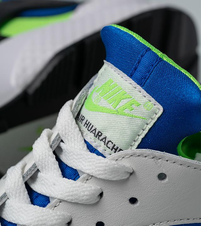 "Nike Air Huarache ""Scream Green"" tongue tab"