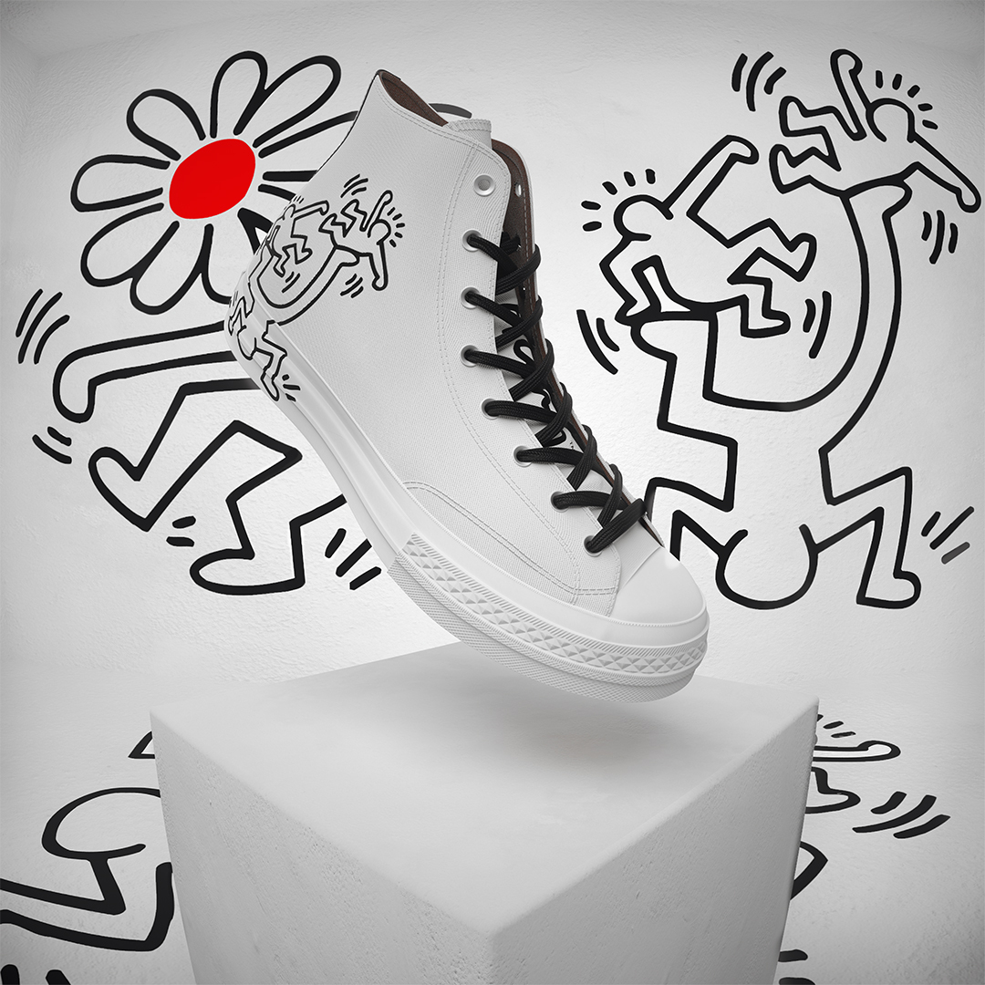 Keith Haring's artwork features on the latest Converse capsule