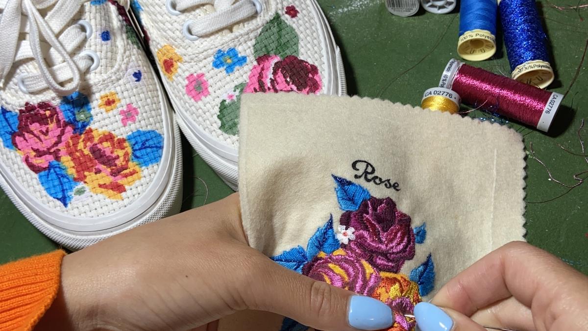 @rosie.anwara joins us in the next instalment of our Vans Needlework Creators Series